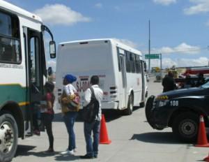 Se realizan inspecciones en unidades del transporte público