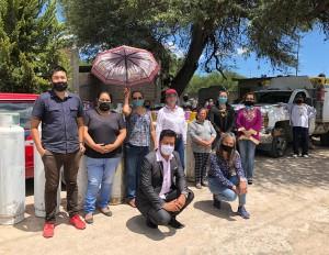 Se realiza la entrega de Combustible de Gas L.P. a familias de la Comunidad de los Encinos