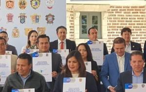 Firman convenio con el Estado para el desarrollo social del municipio