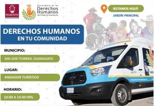 Visita del Ombudsmóvil en el municipio de San José Iturbide